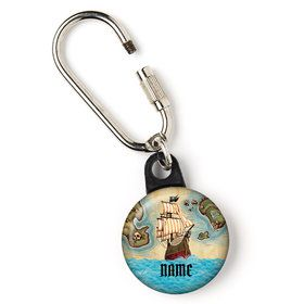 "Pirate Map Personalized 1"" Carabiner (Each)"