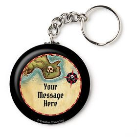 "Pirate Map Personalized 2.25"" Key Chain (Each)"