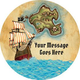 Pirate Map Personalized Mini Stickers (Sheet of 24)
