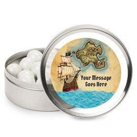 Pirate Map Personalized Mint Tins (12 Pack)