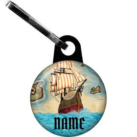 Pirate Map Personalized Zipper Pull (Each)