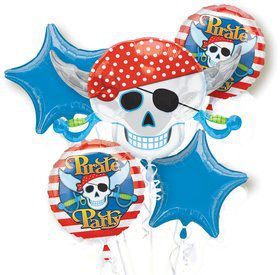 Pirate Mylar Balloon Bouquet (each)