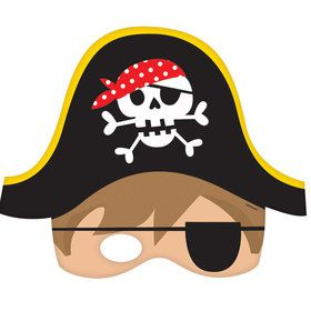 Pirate Paper Masks (8 Count)