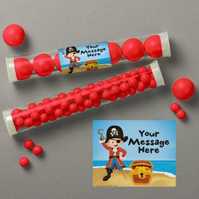 Pirate Personalized Candy Tubes (12 Count)