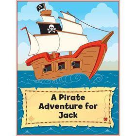 Pirate Personalized Coloring Book (each)