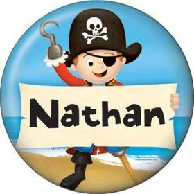Pirate Personalized Mini Button (each)
