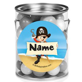 Pirate Personalized Mini Paint Cans (12 Count)