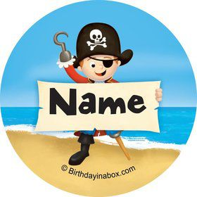 Pirate Personalized Mini Stickers (Sheet of 20)