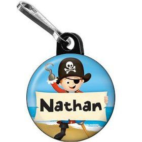 Pirate Personalized Mini Zipper Pull (each)