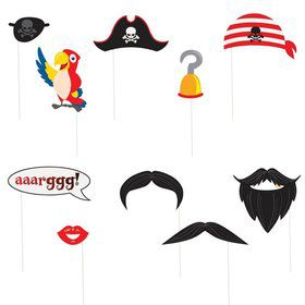 Pirate Photo Props Set (10 Pack)