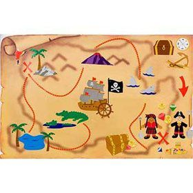 Pirate Treasure Map Activity Kit (12-pack)