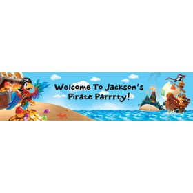 Pirate Treasure Personalized Banner (Each)