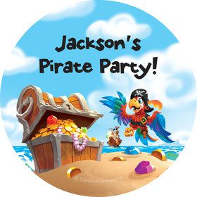 Pirate Treasure Personalized Stickers (Sheet of 12)