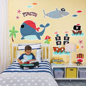 Pirate Treasure Sea Life Giant Wall Decal