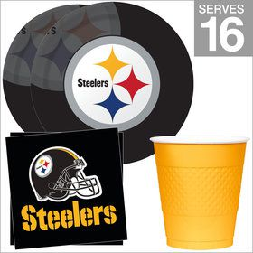 Pittsburgh Steelers NFL Party Supplies Standard Kit for 16
