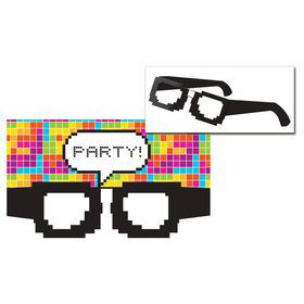 Pixel Glasses Invitation (8 Count)
