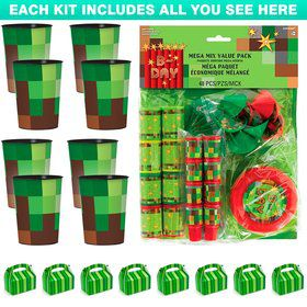 Pixelated Gaming Favor Kit (Serves 8)