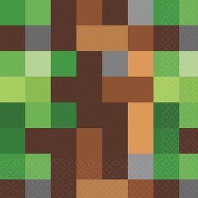 Pixelated Lunch Napkins (16)