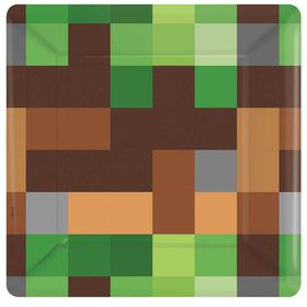 Pixelated Square Dessert Plates (8)