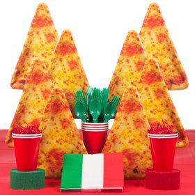 Pizza Birthday Party Deluxe Tableware Kit Serves 8