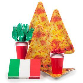 Pizza Birthday Party Standard Tableware Kit Serves 8