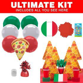 Pizza Birthday Party Ultimate Tableware Kit Serves 8
