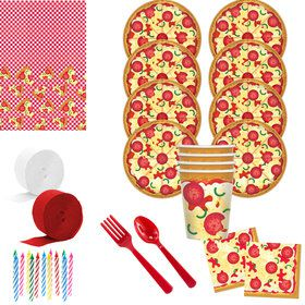 Pizza Party Deluxe Tableware Kit (Serves 8)