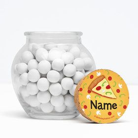"Pizza Party Personalized 3"" Glass Sphere Jars (Set of 12)"
