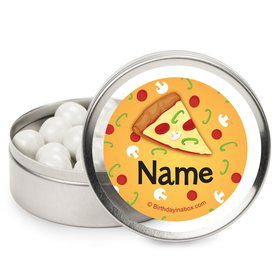 Pizza Party Personalized Candy Tins (12 Pack)