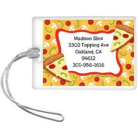 Pizza Party Personalized Luggage Tag (each)