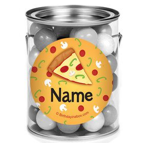 Pizza Party Personalized Mini Paint Cans (12 Count)