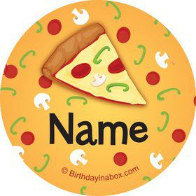 Pizza Party Personalized Mini Stickers (Sheet of 24)