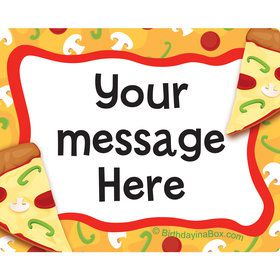 Pizza Party Personalized Rectangular Stickers (Sheet of 15)