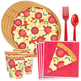 Pizza Party Standard Tableware Kit (Serves 8)