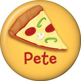 Pizza Personalized Mini Button (each)