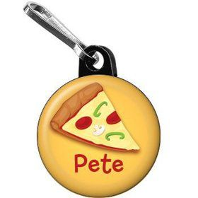 Pizza Personalized Mini Zipper Pull (each)