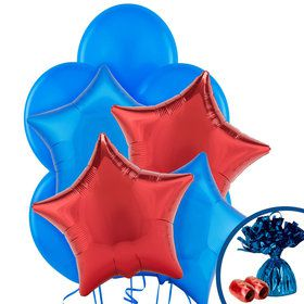 Red & Blue Balloon Bouquet