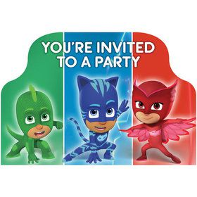 PJ Masks Invitations (8 Count)