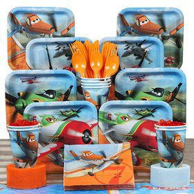 Planes Birthday Party Deluxe Tableware Kit Serves 8
