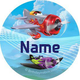 Planes Personalized Mini Stickers (Sheet of 20)