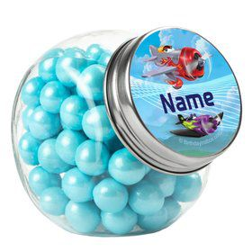 Planes Personalized Plain Glass Jars (12 Count)