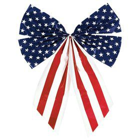 Plastic Flag 4 -Loop Decorative Bow (Each)