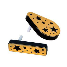 Plastic Metallic Black and Gold Noise Makers