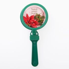 Poinsettia Holiday Personalized Clappers (Set of 12)