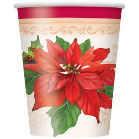 Poinsettia Joy 9oz Cups (8 Pack)
