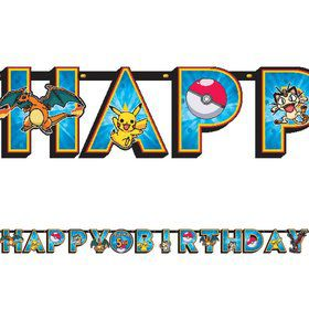 Pokemon 10Ft Add-An-Age Letter Banner (Each)