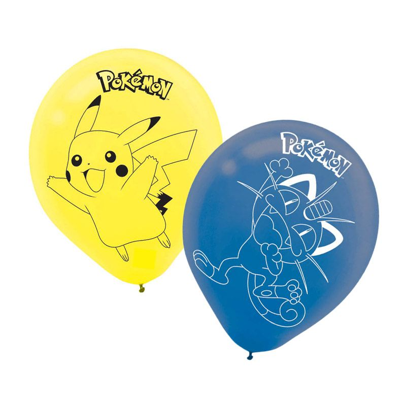 "Pokemon 12"" Latex Balloons (6 Pack) - Party Supplies BB111844"