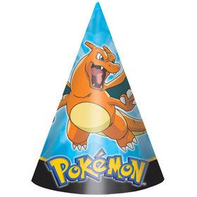 "Pokemon 6"" Party Hats (8 Pack)"