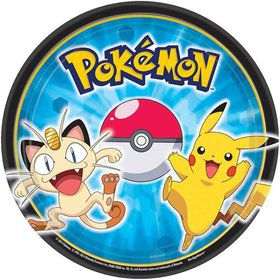 "Pokemon 7"" Cake Plates (8 Pack)"