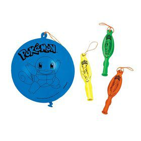 Pokemon Assorted Punch Balloon Favors (4)